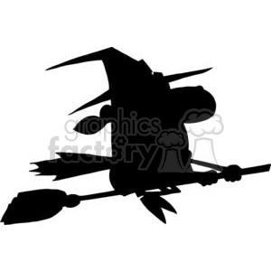 Halloween witch silhouette clipart. Royalty-free image # 380752