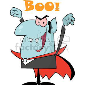 cartoon vector occassions funny Halloween October vampire vampires Count Dracula Boo scary