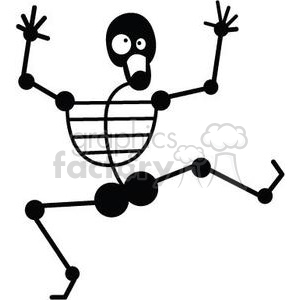 dancing skeleton clipart. Royalty-free image # 380782