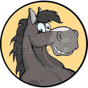 happy cartoon horse head clipart. Royalty-free image # 380858
