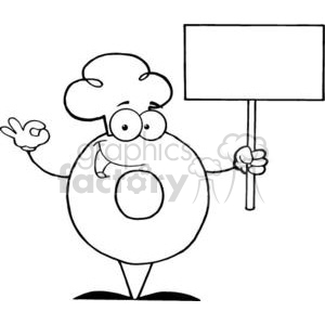 3468-Friendly-Donut-Cartoon-Character-Holding-A-Blank-Sign