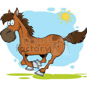 3367-Cartoon-Horse-Running clipart. Royalty-free image # 380898