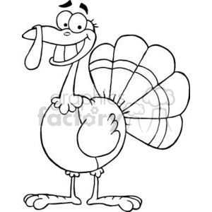 Turkey Mascot Cartoon Character