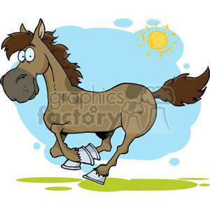 3369-Cartoon-Horse-Running clipart. Royalty-free image # 380968