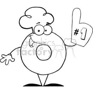 3471-Friendly-Donut-Cartoon-Character-Number-One clipart. Commercial use image # 380978