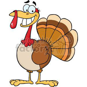 cartoon funny Holidays vector Thanksgiving turkey turkeys bird birds
