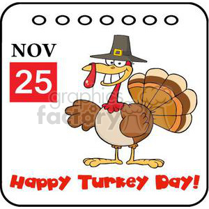 happy turkey day clipart. Royalty-free image # 381008