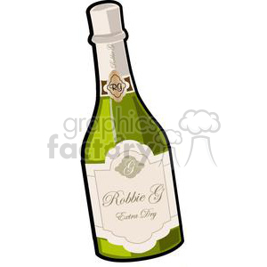 champagne bottle clipart. Royalty-free image # 381038