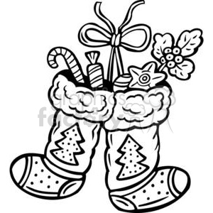 two stockings clipart. Royalty-free image # 381077