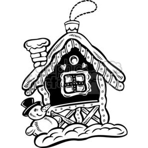 winter cottage clipart. Commercial use image # 381097