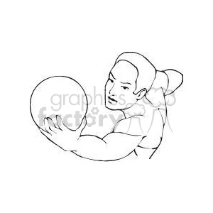 man serving a volleyball clipart. Commercial use image # 381174