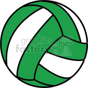 green volleyball clipart. Commercial use image # 381187