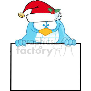 3646-Happy-Blue-Bird clipart. Commercial use image # 381219