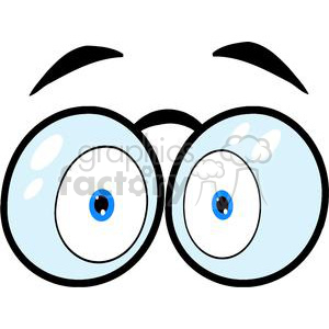 Cartoon-Eyes-With-Glasses clipart. Royalty-free image # 381244