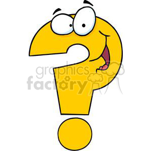 3626-Question-Mark-Cartoon-Character clipart. Royalty-free image # 381254