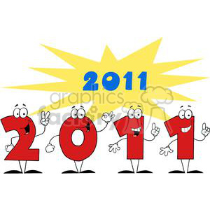 3817-2011-Year-Cartoon-Character clipart. Royalty-free image # 381304