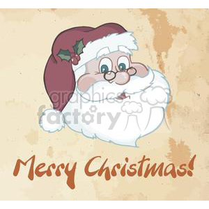 Merry-Christmas-Greeting-With-Santa-Claus clipart. Commercial use image # 381339