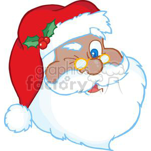 Santa Claus Winking clipart. Commercial use image # 381354