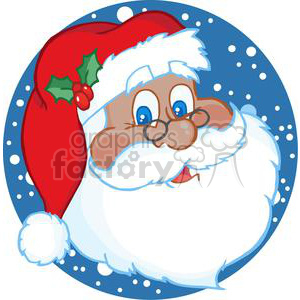 3747-African-American-Classic-Santa-Claus-Head clipart. Royalty-free image # 381389