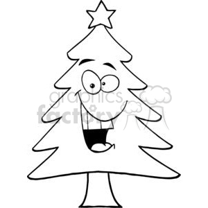 Cartoon-Chrictmas-Tree clipart. Royalty-free image # 381399