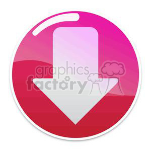red download button with arrow clipart. Royalty-free image # 381624