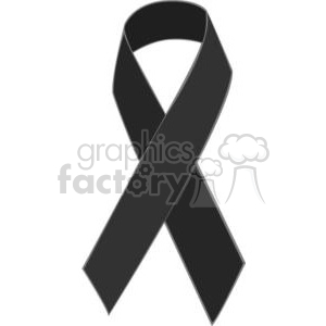 black ribbon  clipart. Commercial use image # 381634