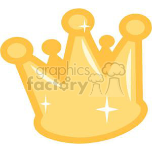 gold crown clipart. Commercial use image # 381644
