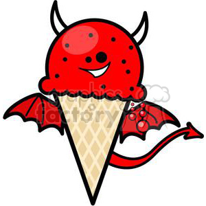 evil ice cream clipart. Commercial use image # 381654