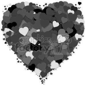 layers of black hearts - lots of love
