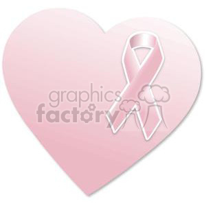 pink breast cancer heart clipart. Royalty-free image # 381669