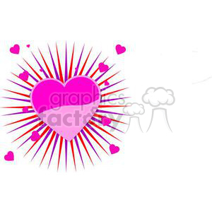 pink bursting heart clipart. Royalty-free image # 381674