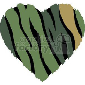 camouflage love heart clipart. Commercial use image # 381684