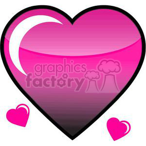 pink hearts clipart. Commercial use icon # 381689