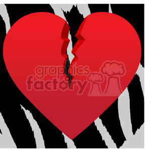 broken+heart hearts Valentine Valentines love relationship relationships vector cartoon animal animals jungle zebra sad