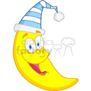 moon ready for sleep clipart. Royalty-free image # 381956
