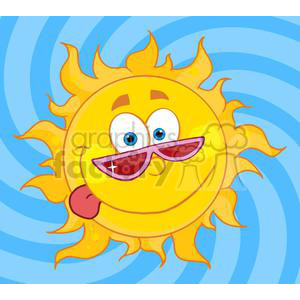 4037-Happy-Sun-Mascot-Cartoon-Character-With-Shades clipart. Royalty-free image # 381971