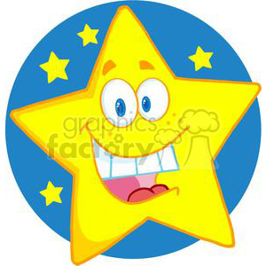 cartoon funny star stars night sky happy
