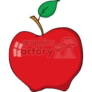 Cartoon Apple clipart. Commercial use image # 381986