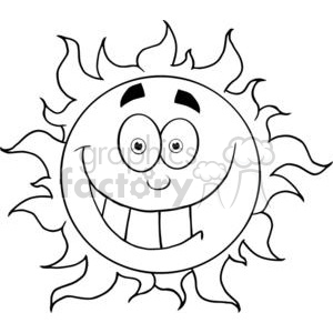4047-Happy-Smiling-Sun-Mascot-Cartoon-Character clipart. Royalty-free image # 381996