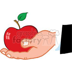 4102-Business-Hand-Holding-Red-Apple clipart. Royalty-free image # 382001