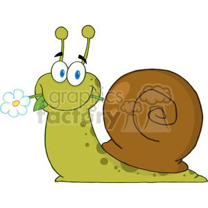 cartoon snail clipart. Royalty-free image # 382011