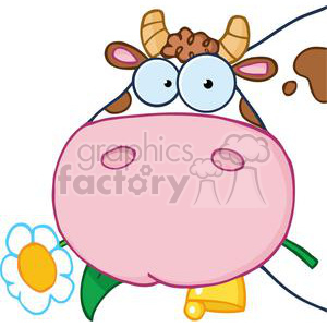 4134-Cow-Head-Cartoon-Character clipart. Commercial use image # 382021