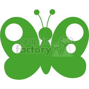 4128-Green-Butterfly-Silhouette clipart. Royalty-free image # 382031