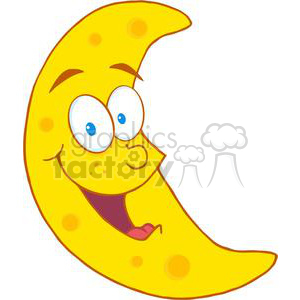4112-Happy-Moon-Mascot-Cartoon-Character