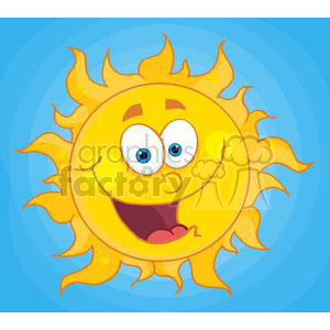 4034-Happy-Sun-Mascot-Cartoon-Character clipart. Royalty-free image # 382061