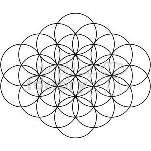 flower of life symbol 001 clipart. Commercial use image # 384781