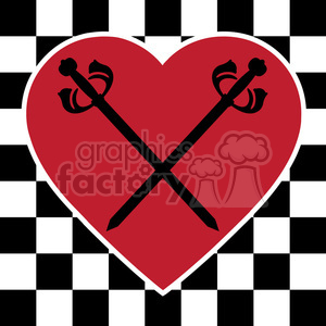 checkerboard heart design 003