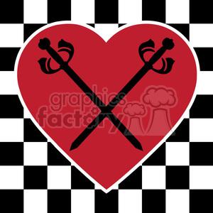 logo design elements symbols symbol sword swords love heart hearts checkered board checkers RG emblem