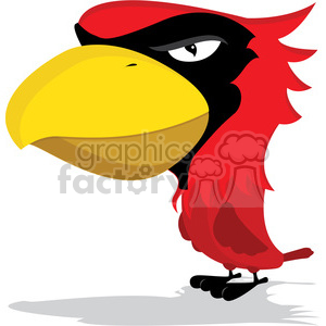 Cardinal Mascot with cartoon body clipart. Royalty-free image # 384811