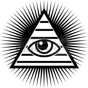 all seeing eye design clipart. Commercial use image # 384821